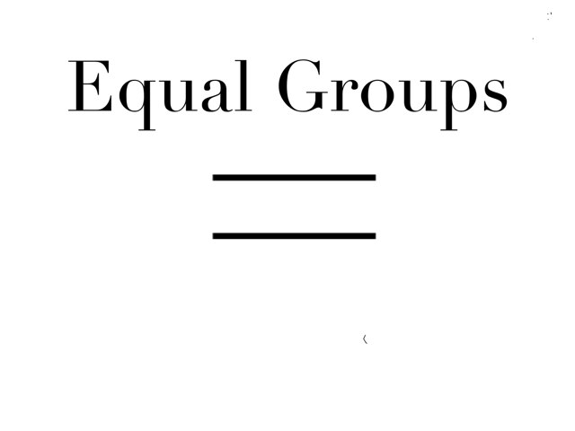 Equal Groups by Germana Zanotelli