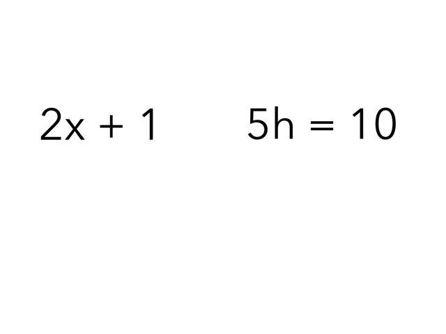 Equations Versus Expressions by Kari skildum