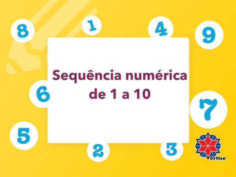 Sequência Numérica 1 A 10 by Dayse Cristina