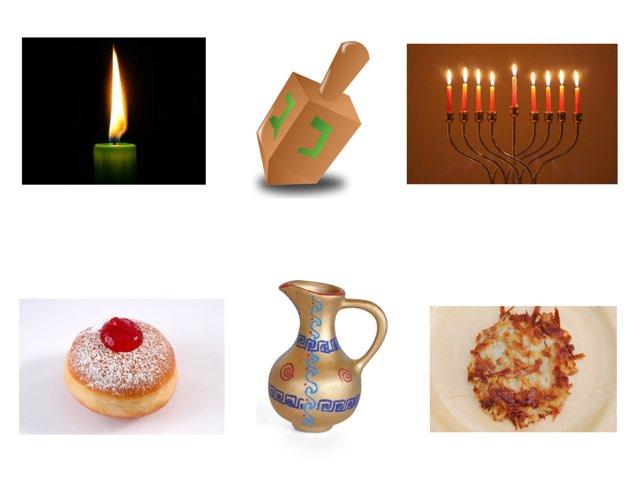 לוח סצנה סמלי חנוכה by Varda Lavi