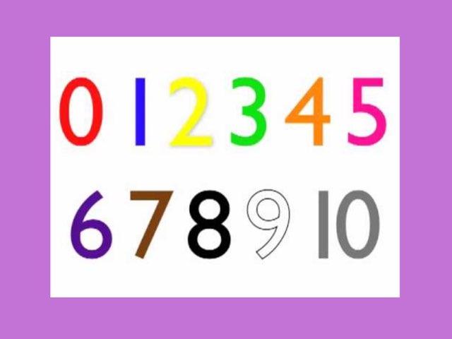 Number Order 0-10 by Deborah Fletcher