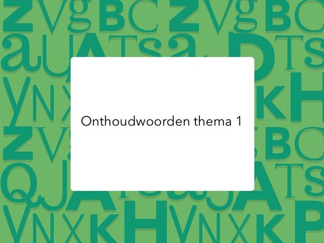 Onthoudwoorden thema 1 by Kirby Janseghers