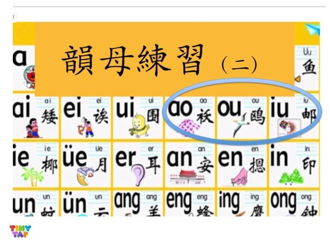 韻母練習(二)ao ou iu  by Primary Year 2 Admin