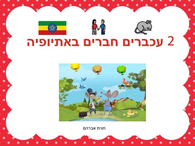 פעילות לסיפור - שני עכברים באתיופיה by חגית אברהם