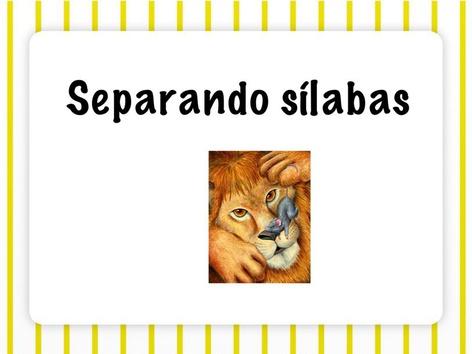 Separando Sílabas  by Marina Restaino