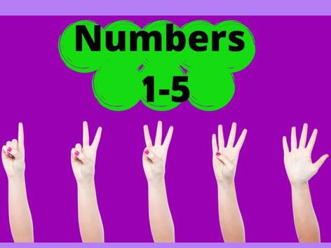 Numbers 1-5 by Joana Reyes