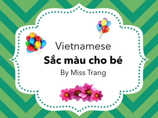 Vietnamese: Sắc Màu Cho Bé by Trang Quỳnh