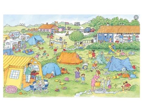 Praatplaat Camping by Janine