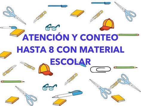 Atención Y Conteo Con Material Escolar. by Jose Sanchez Ureña