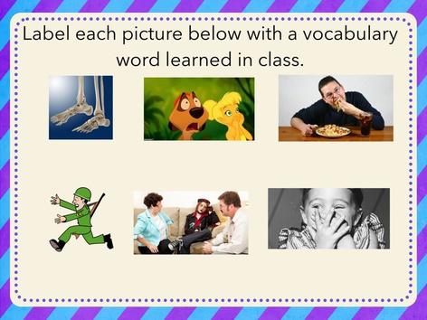 8thwk2 Vocabulary Game by Iliana Navarro-Chiessa