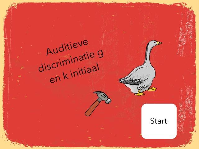 Auditieve Discriminatie G K Initiaal by Annabel Barbé