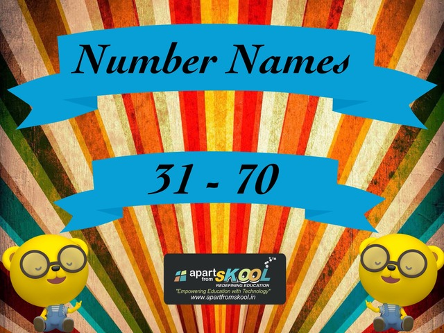 31-70 Number Names by TinyTap creator