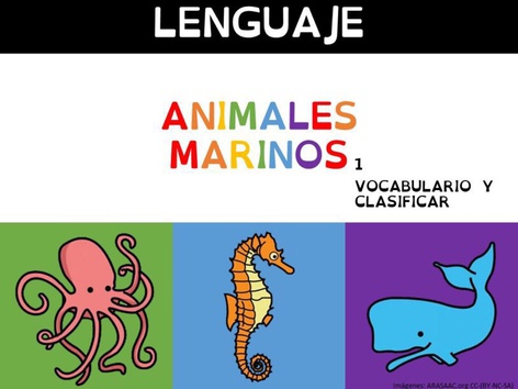 Animales Marinos Vocabulario 1 by Sergio Mesa Castellanos