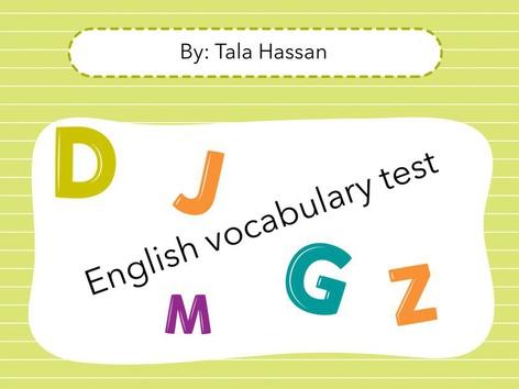 English Test by סופיה חסן