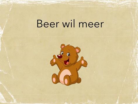 Beer Wil Meer by Nadja Sarasin