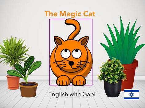 The Magic Cat- לימוד צבעים באנגלית לקטנים(1) by English with Gabi אנגלית עם גבי