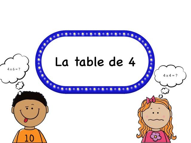 La Table De 4 by Emmanuelle Botta