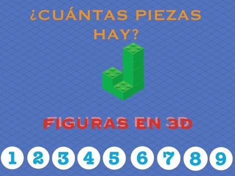 ¿CUÁNTAS PIEZAS HAY? FIGURAS EN 3D by Jose Sanchez Ureña