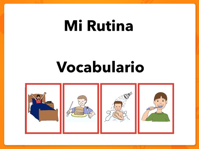 Mi Rutina Vocabulario by Rodica Harvey