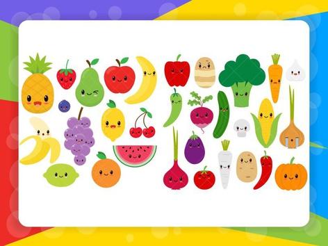 Gyümölcsök, zöldségek színei by Petra Király