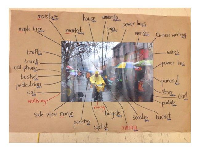 Rain Spelling Test by Russell Munkler