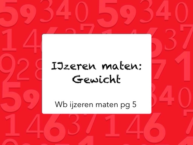 IJzeren maten: Gewicht by Kirby Janseghers