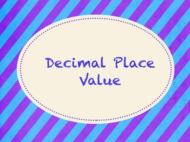 Decimals by Katie Gilson