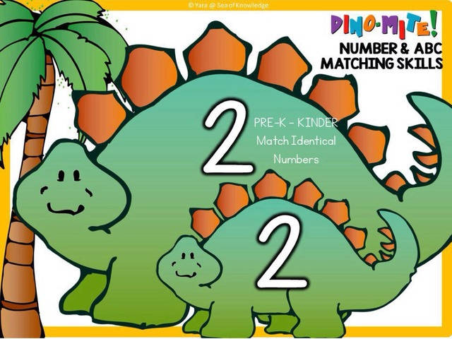 Matching Letters And Numbers - Dinomite Dinosaur Match  by Yara Habanbou