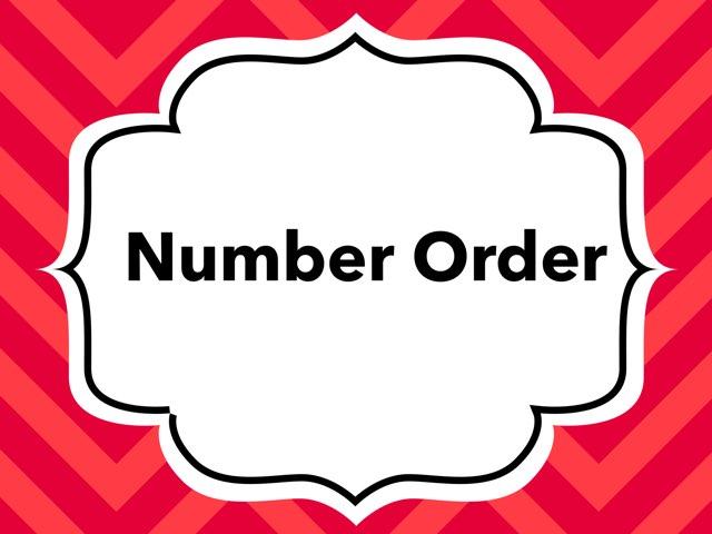WFPS Number Order by Danette Brown