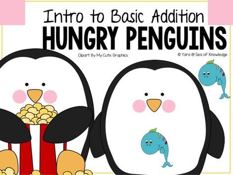 Basic Addition Introduction Hungry Penguins by Yara Habanbou