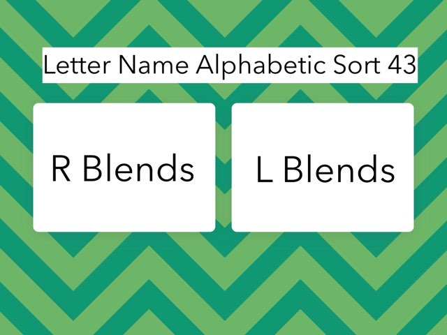 Letter Name Alphabetic Sort 43 by Erin Moody