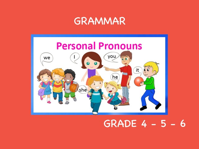 Personal Pronouns by Laurence Micheletti