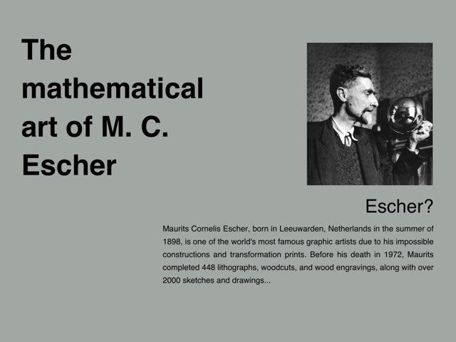 M. C. Escher by Meg Oleksiw