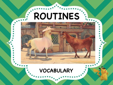 Routines - Vocabulary  by ShowAnd Text