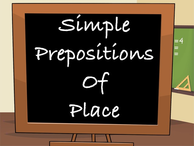 Prepositions Of Place by English Time