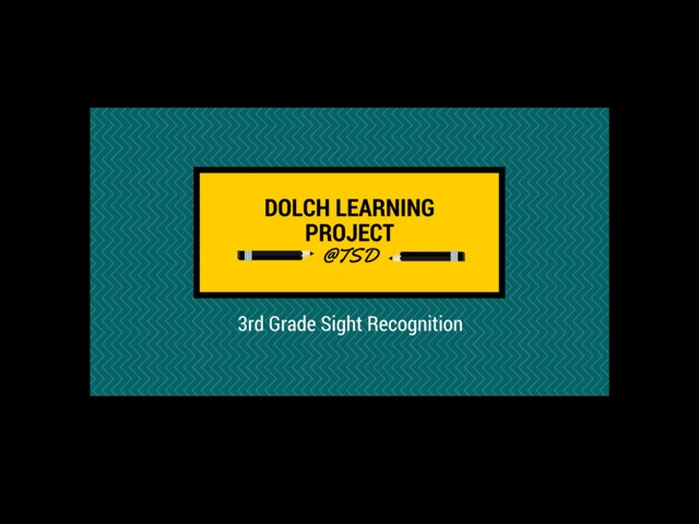 Vocabulary Introduction 3: Dolch 3rd Grade by TSD Library