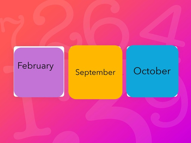 Month names by Craig Miller