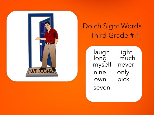 Dolch Sight Words Third Grade #3 by Carol Smith
