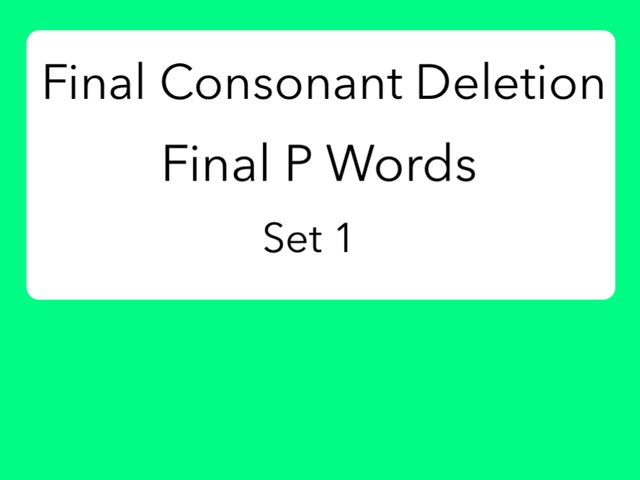 FCD Final P Words by 58638 58638