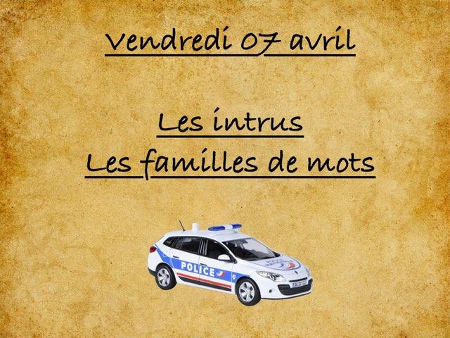 M - Ven07 - Intrus Et Familles by Caroline Gozdek