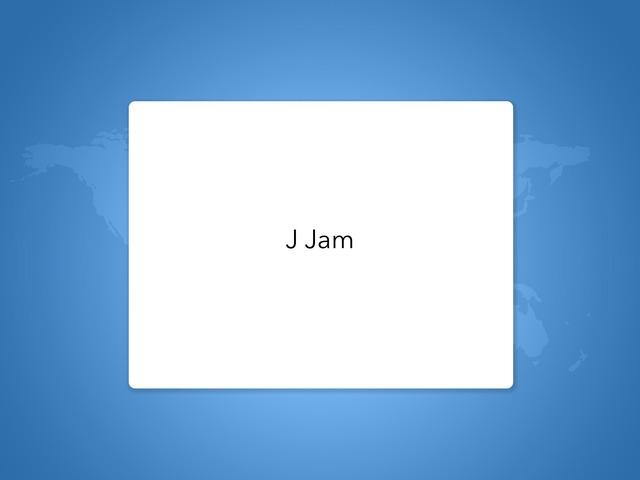 Word Jam Letter j by Khloud Khaled