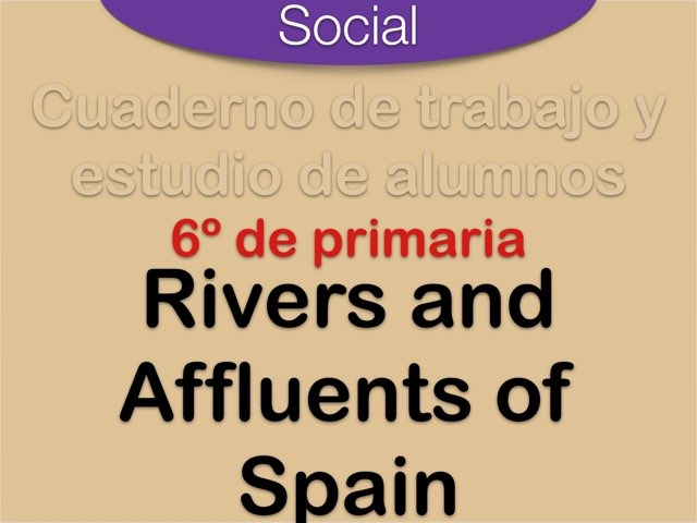 Rivers and affluents of Spain by Elysia Edu