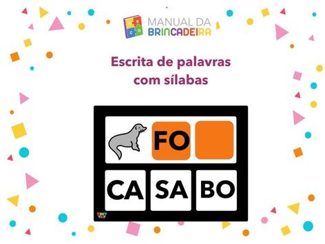 Escrita De Palavras Com Sílabas by Manual Da Brincadeira Miryam Pelosi