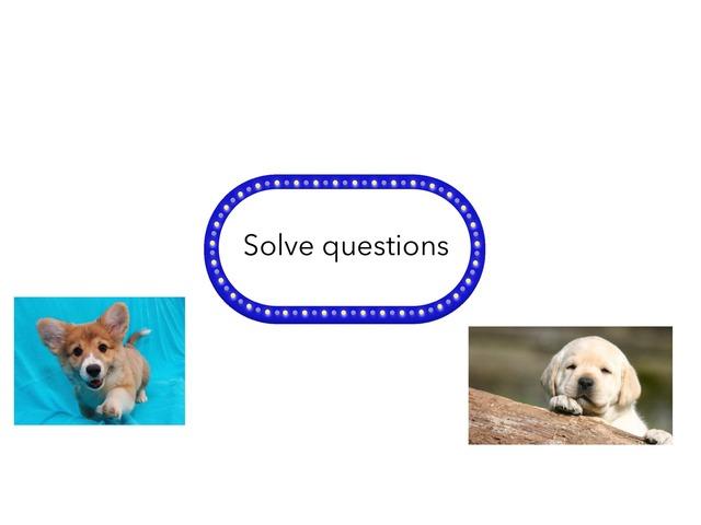 Solve by Ana Sullivan