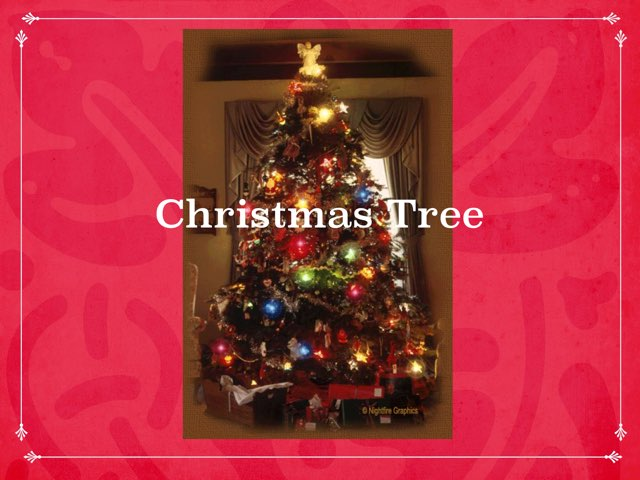 Decorating A Christmas Tree by Kristi newman