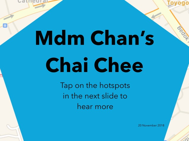 Mdm Chan's Chai Chee by Moses Sia