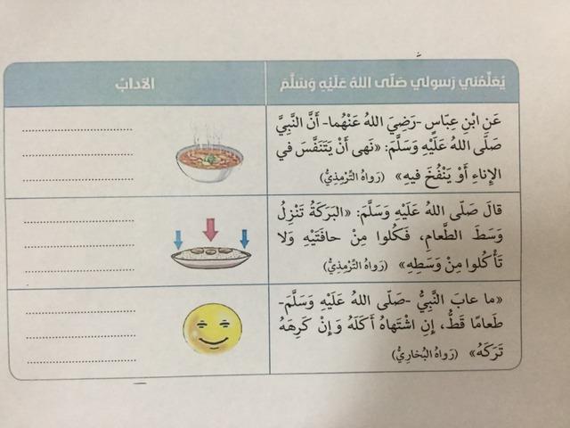 من آداب الطعام  by Esmat Ali