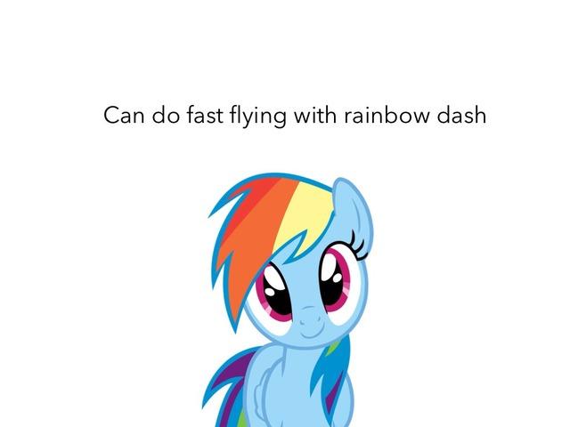 Rainbow Dash Dose Fast Flying  by Idah Rahman