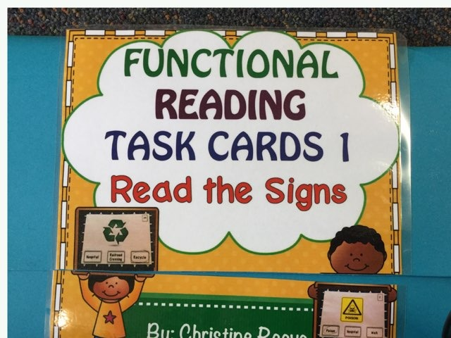 Read The Signs.  Functional Reading. Easy level by Tanya Crowe