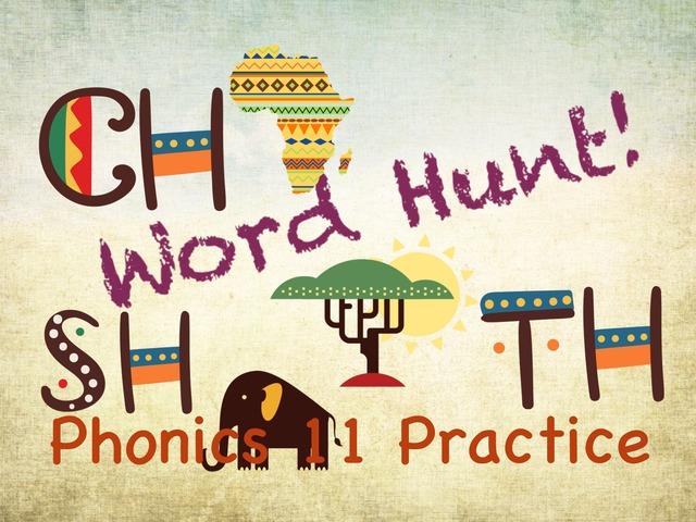 Word Hunt Phonics 11 Testing Practice by Tony Bacon
